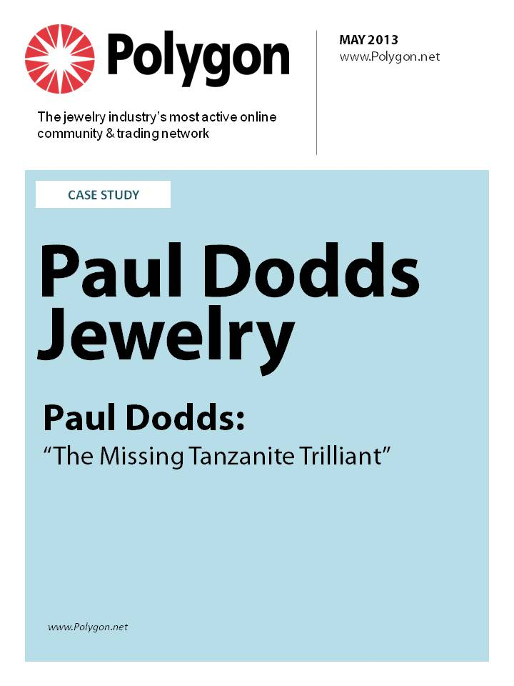 "Paul Dodds Jewelry - Paul Dodds: ""The Missing Tanzanite Trilliant"""