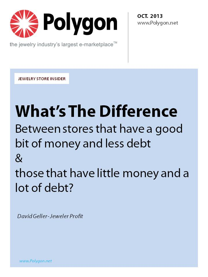 What's the difference between stores that have a good bit of money and less debt and those that have little money and a lot of debt?