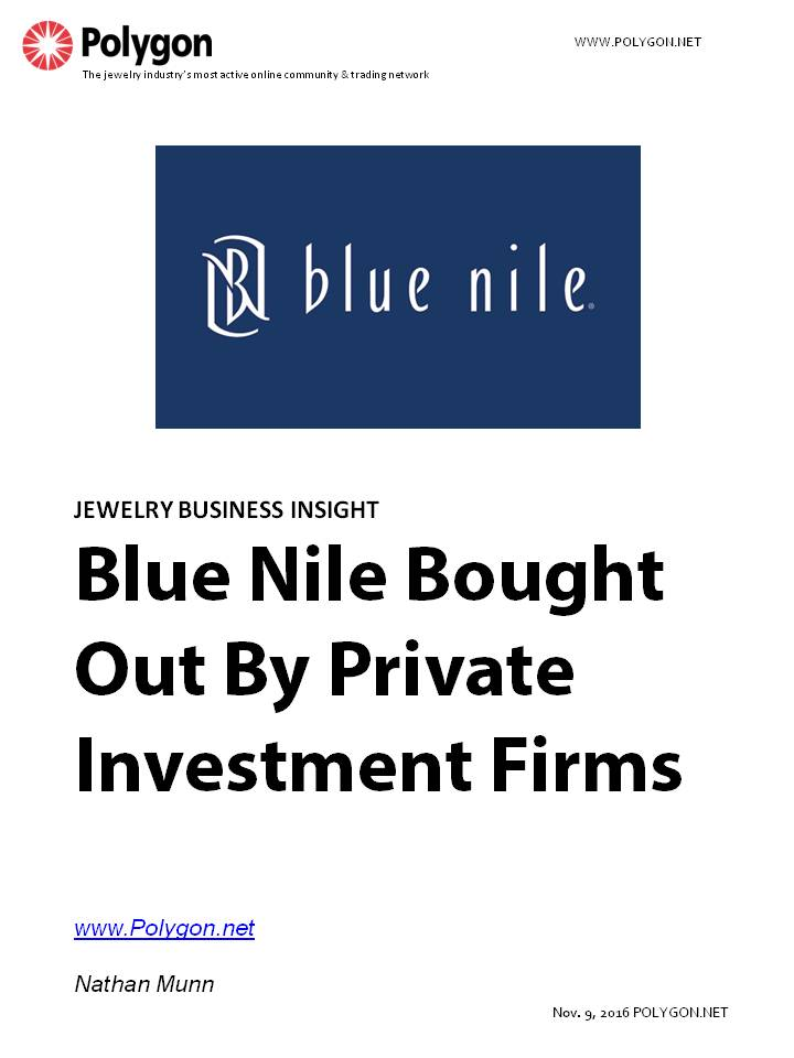 Blue Nile Bought Out By Private Investment Firms