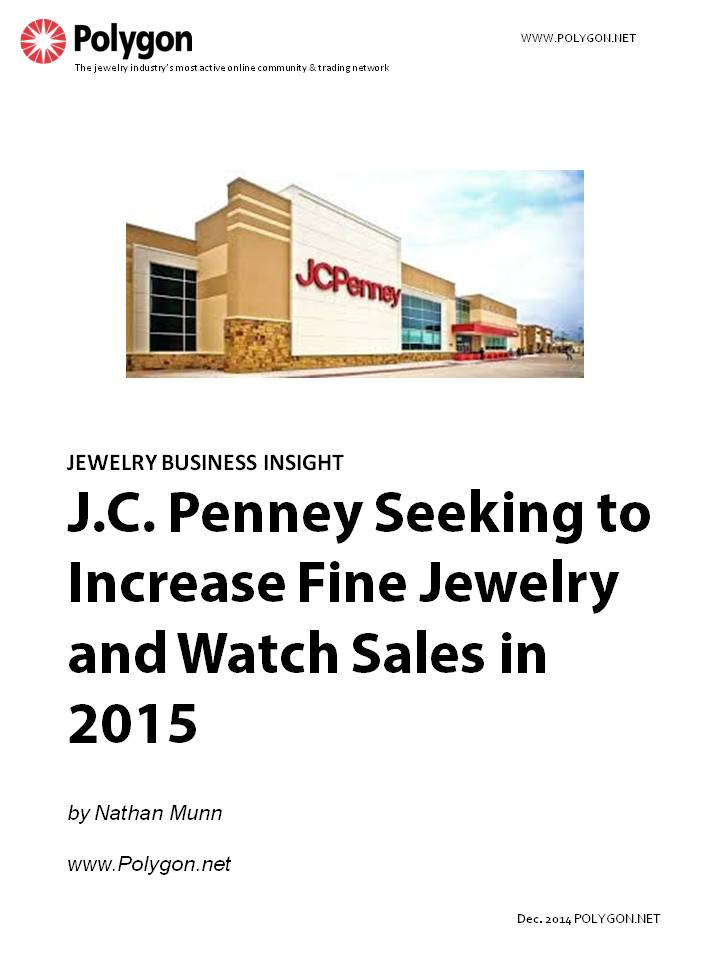 J.C. Penney Seeking to Increase Fine Jewelry and Watch Sales in 2015