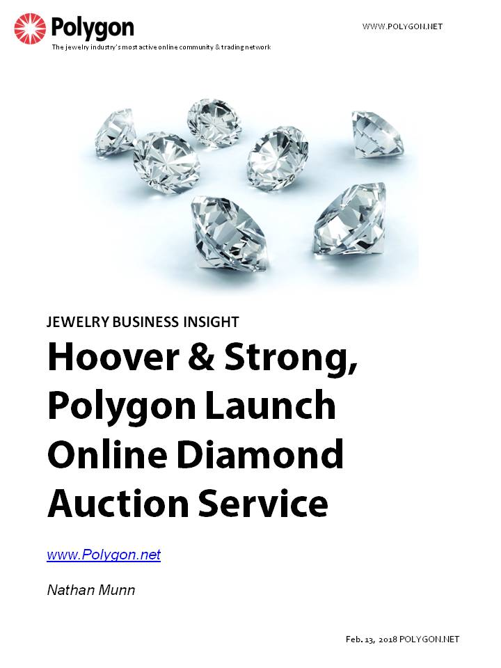 Hoover & Strong and Polygon announce the launch of an online diamond auction service to Polygon members