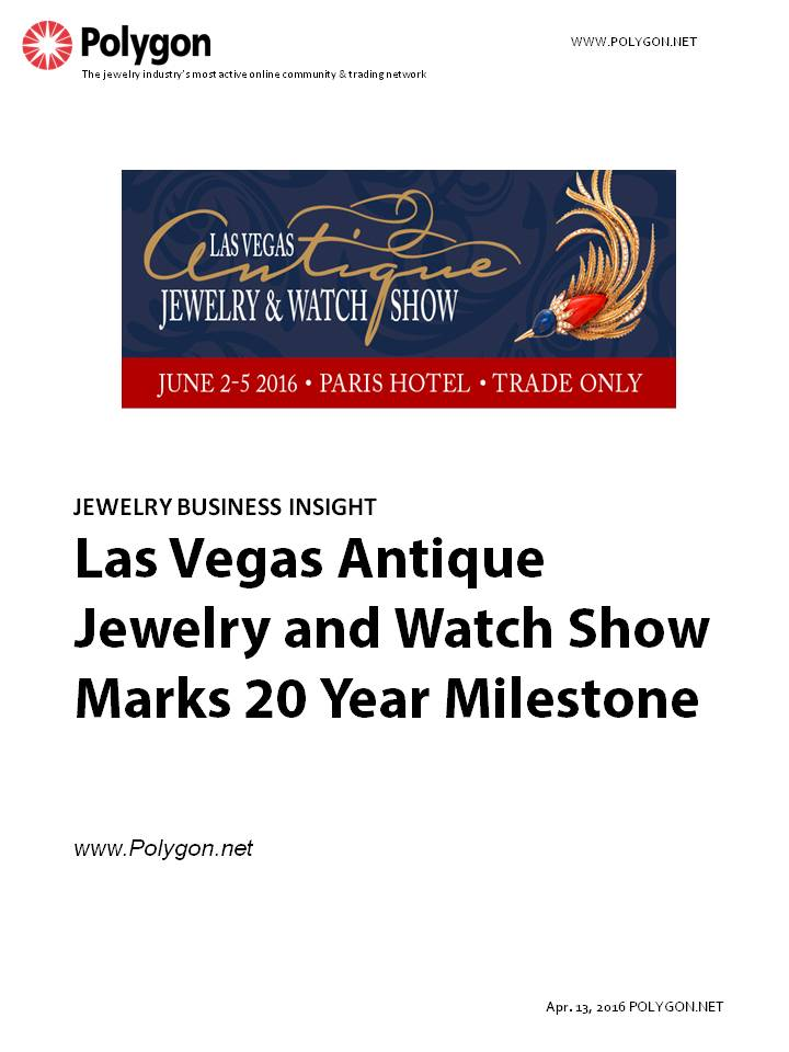 The Las Vegas Antique Jewelry and Watch Show Marks 20 Year Milestone