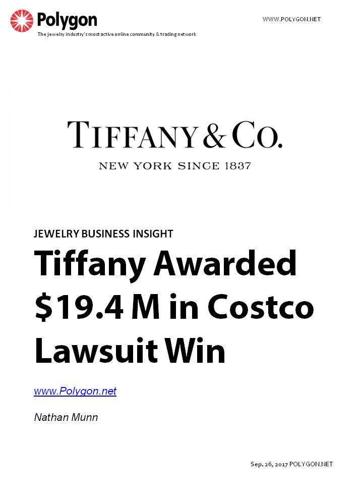 Tiffany Awarded $19.4 Million in Costco Lawsuit Win