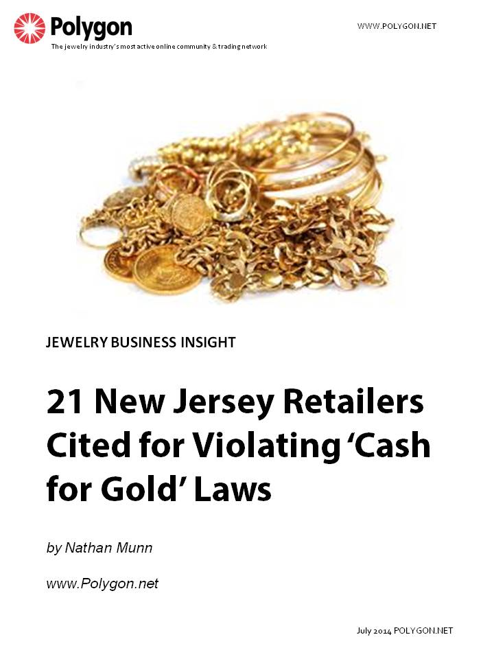 21 New Jersey Retailers Cited for Violating 'Cash for Gold' Laws