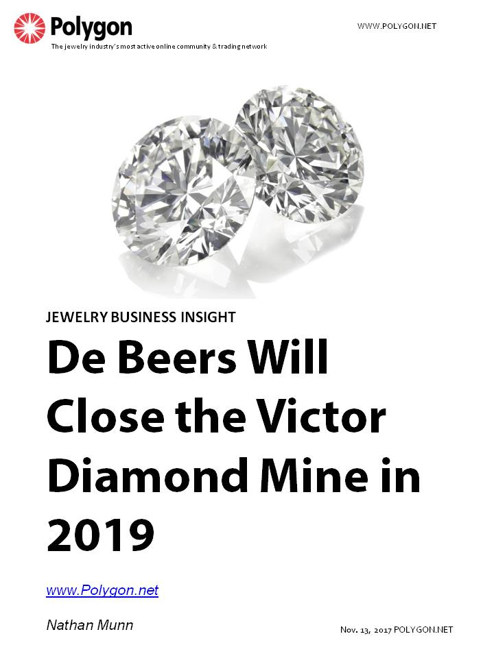 De Beers Will Close the Victor Diamond Mine in Ontario, Canada