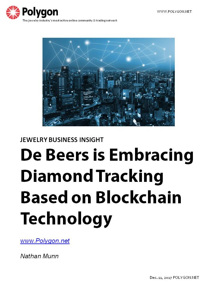 De Beers is Embracing Diamond Tracking Based On Blockchain Technology