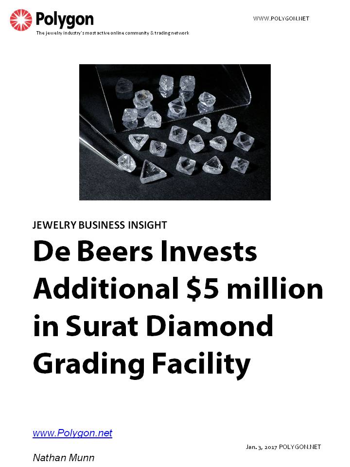 De Beers Group Invests Additional $5 Million in Surat Diamond Screening, Grading and Verification Facility