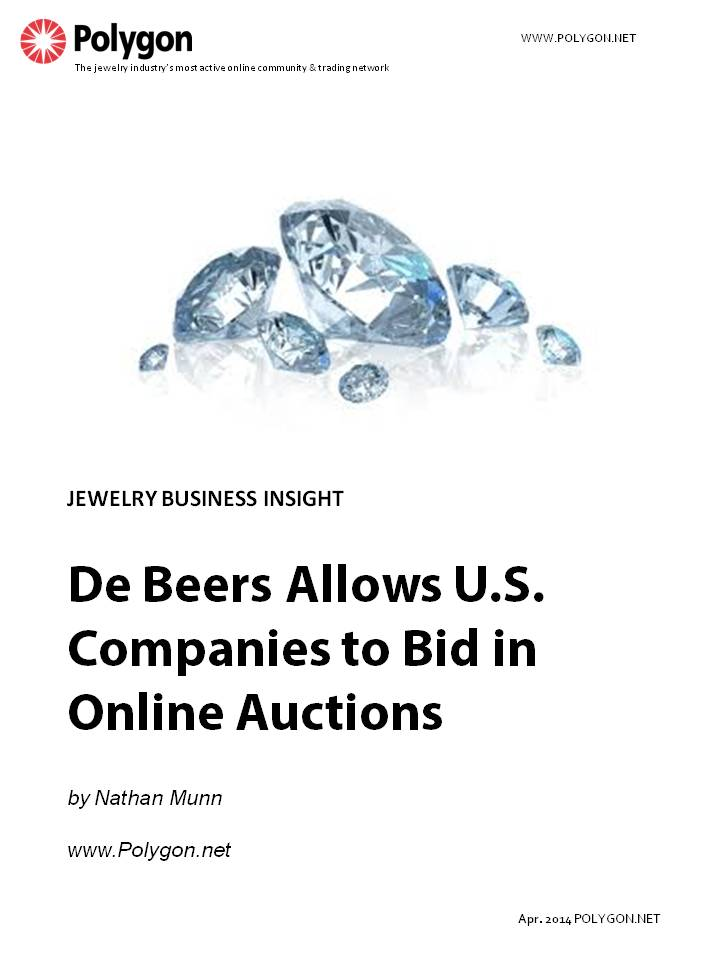 De Beers Allows U.S. Companies to Bid in Online Auctions