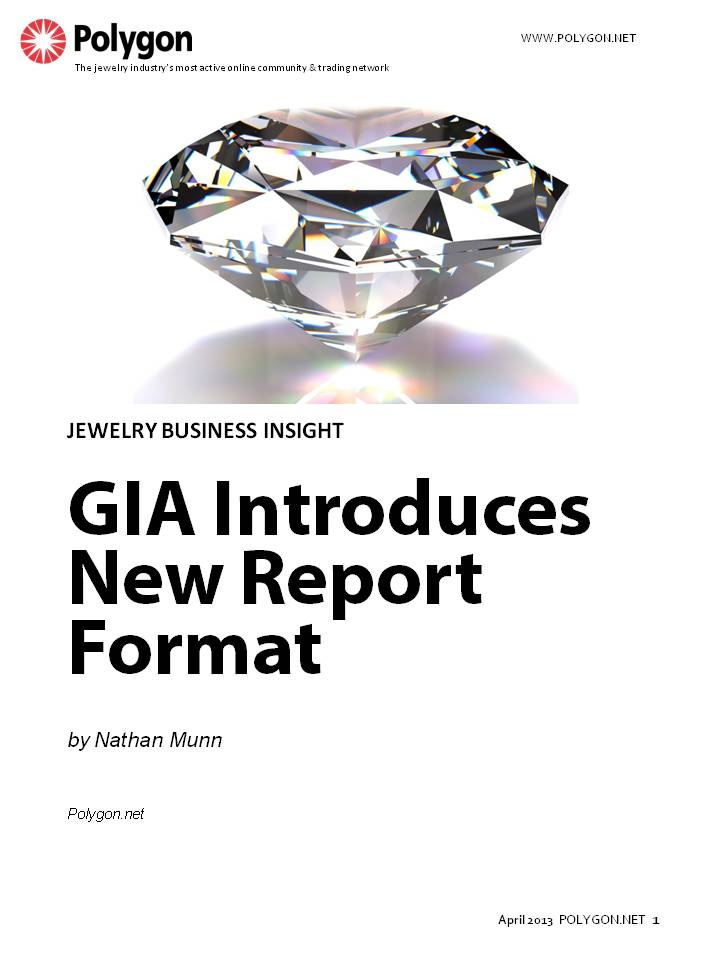 GIA Introduces New Report Format