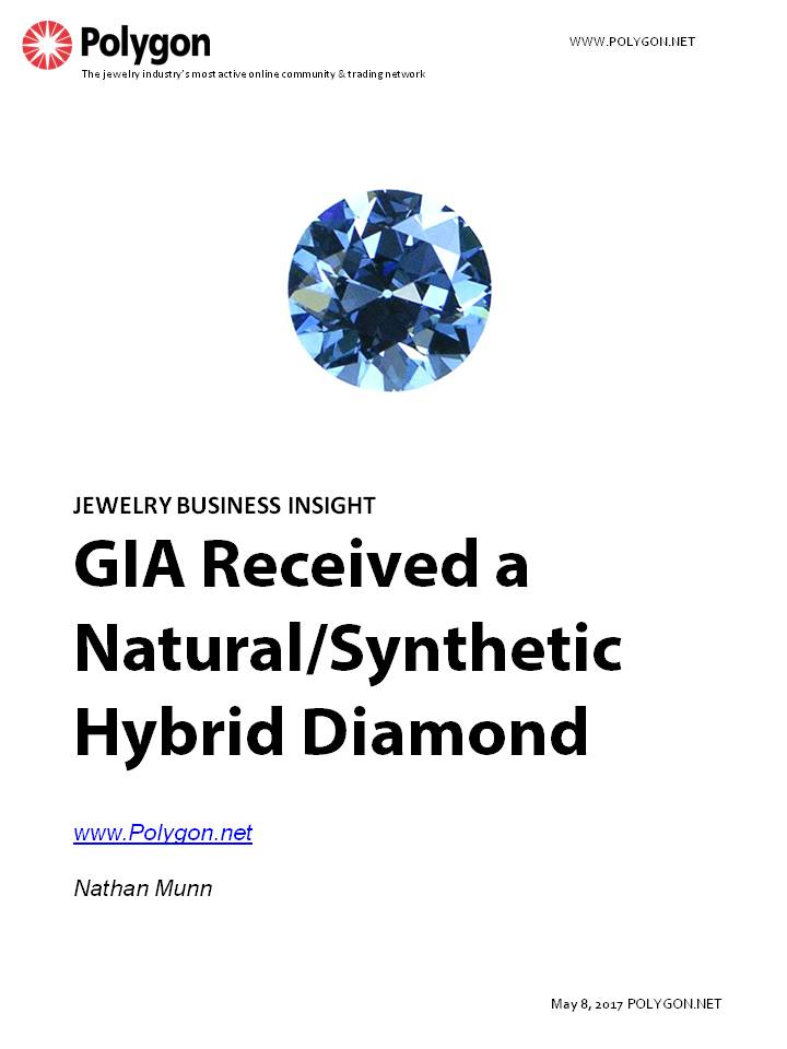GIA Received an Undisclosed Natural/Synthetic Hybrid Diamond