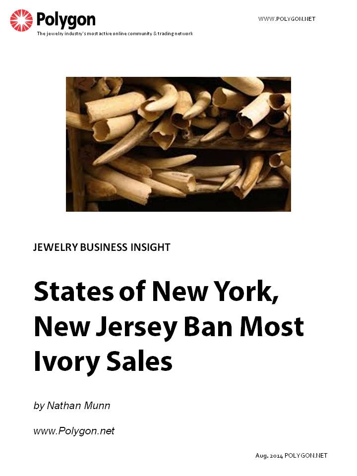 States of New York and New Jersey Ban Most Ivory Sales