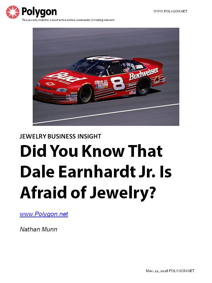 Did You Know That Dale Earnhardt Jr. is Afraid of Jewelry?