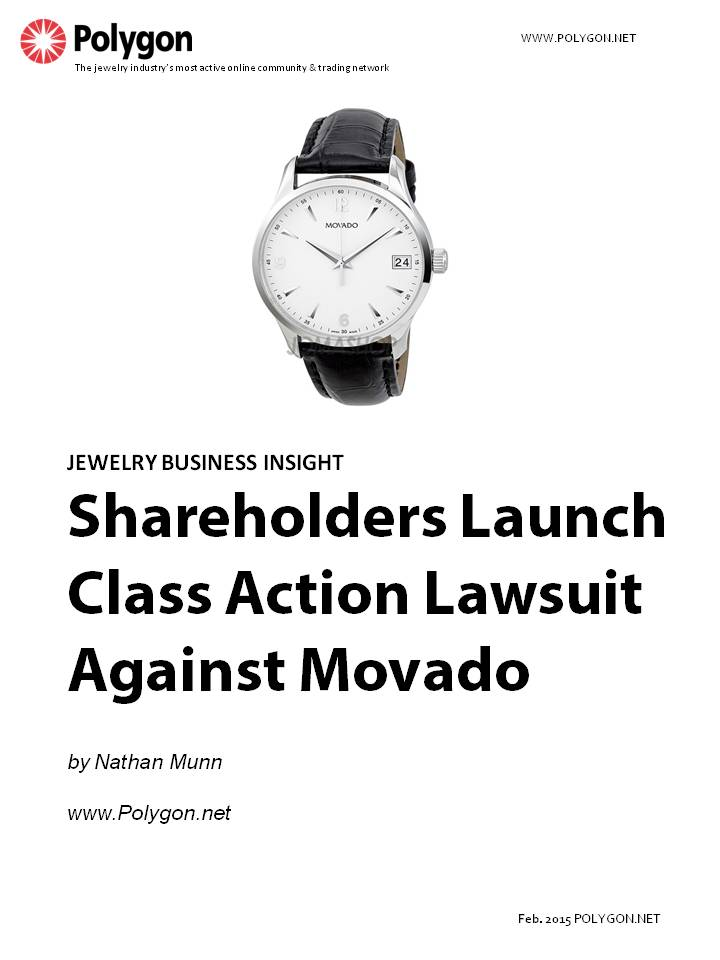 Shareholders File Class Action Lawsuit Against Movado