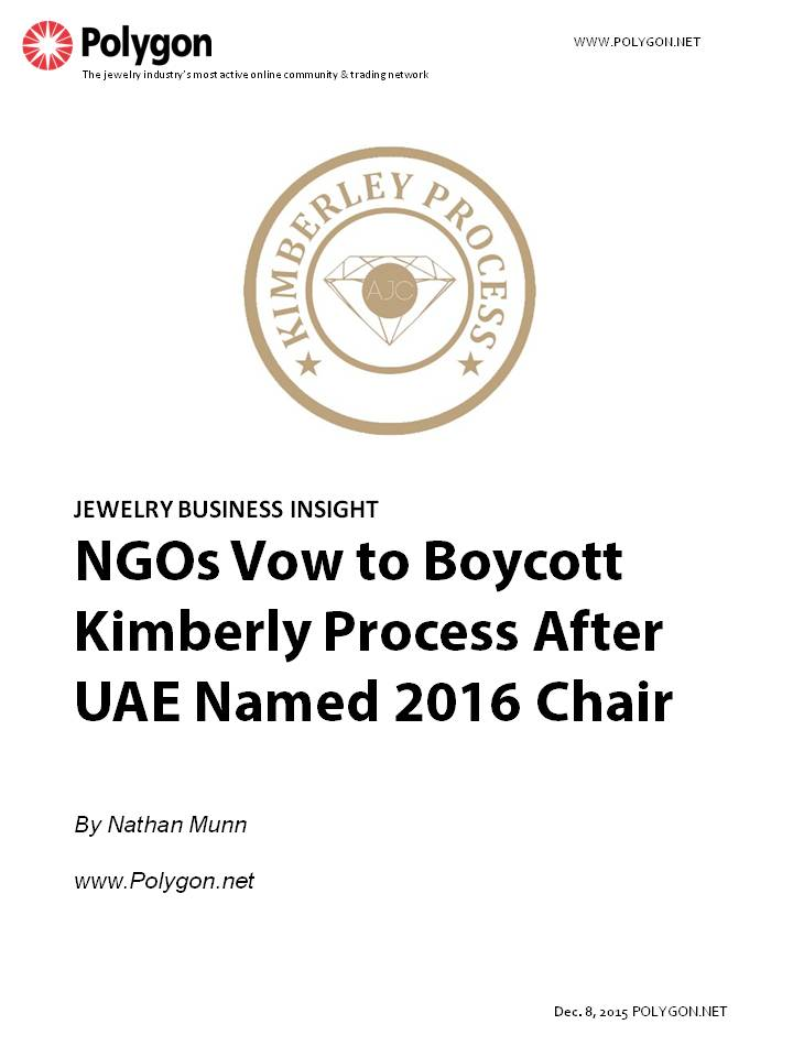 NGO's Vow to Boycott Kimberly Process Meetings After UAE Named 2016 Chair