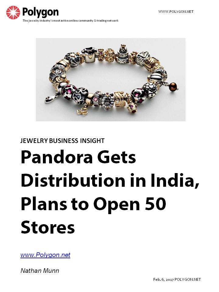 Pandora Signs Indian Distribution Deal, Announces Plan to Open 50 Stores