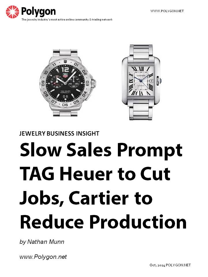 Slow Sales of Swiss Watches Prompt TAG Heuer to Cut Jobs, Cartier to Reduce Production