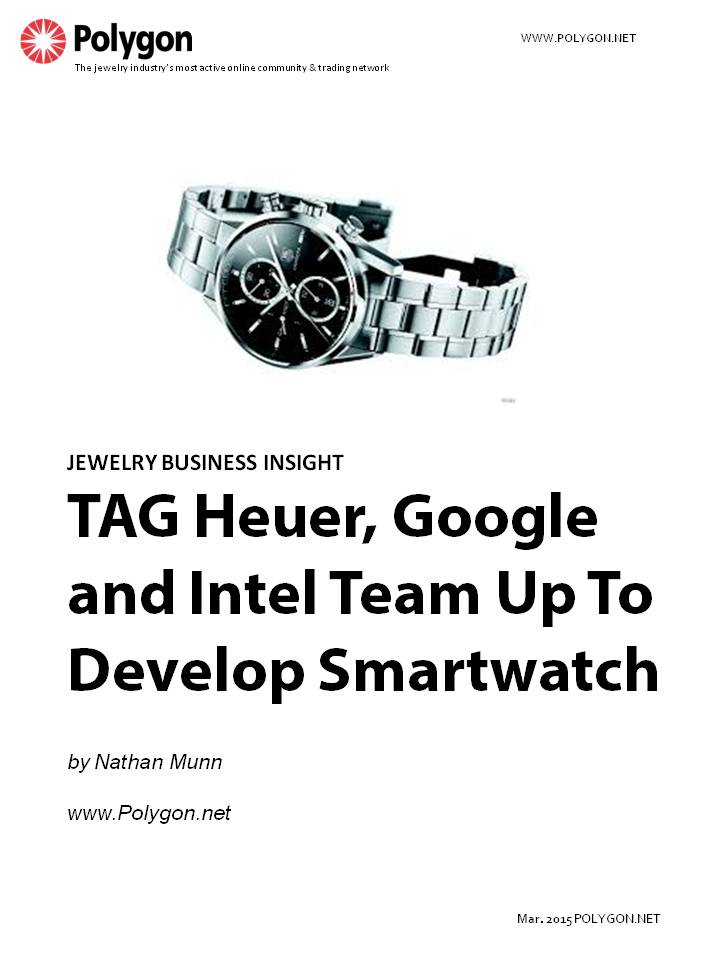 TAG Heuer Partners With Google and Intel to Create Smartwatch