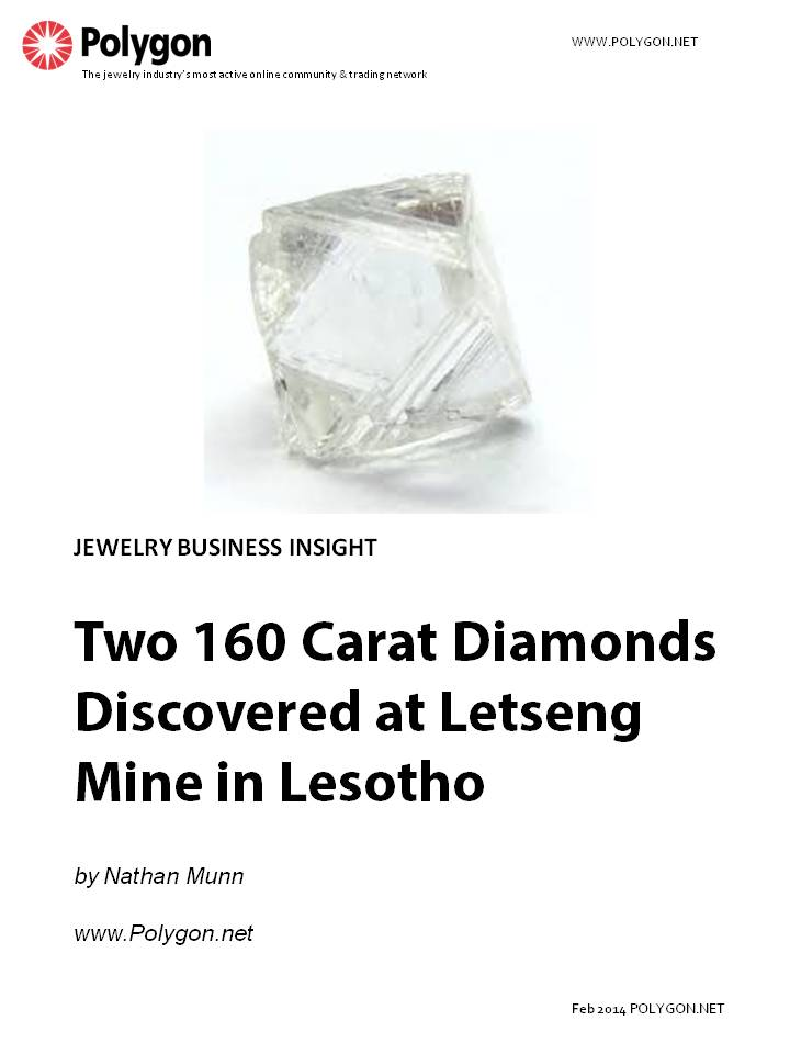 Two 160 Carat Diamonds Discovered at Letseng Mine in Lesotho
