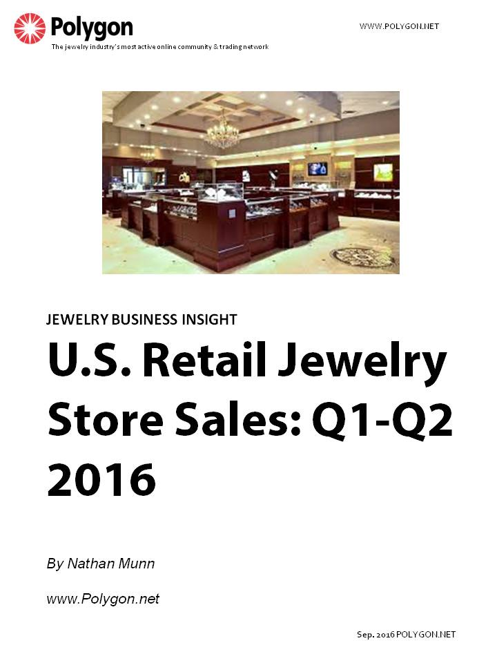 U.S. Retail Jewelry Store Sales: Q1 - Q2 2016