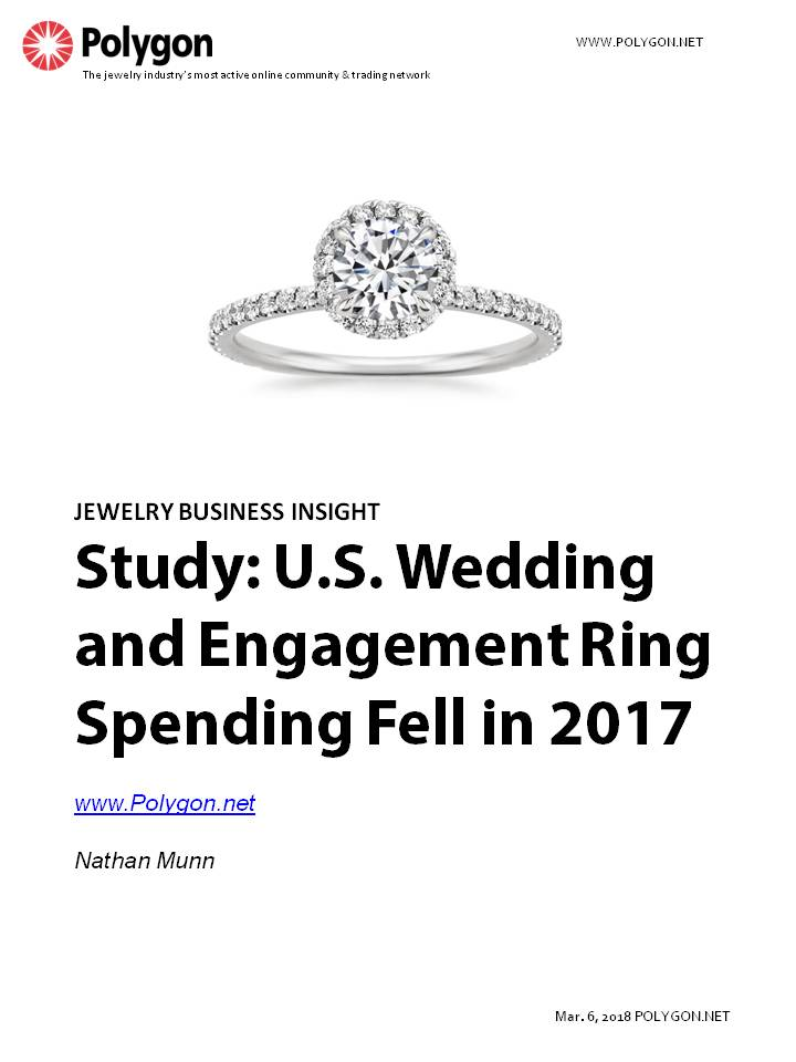 Study: U.S. Wedding and Engagement Ring Spending Dropped in 2017